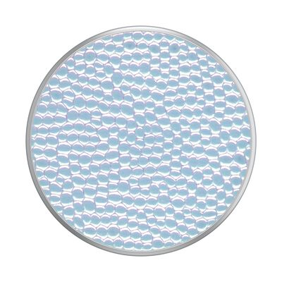 Iridescent Pebbled Pearl White