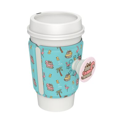 PopThirst Cup Sleeve Summer Pusheen