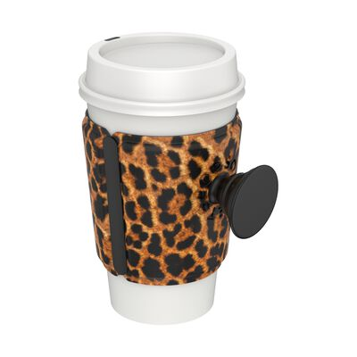 PopThirst Cup Sleeve Leopard Prowl