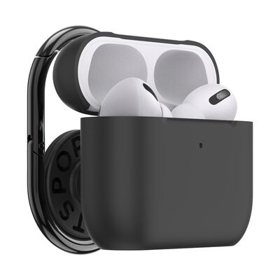 PopGrip AirPods Pro Holder Black with PopChain 2 Gunmetal